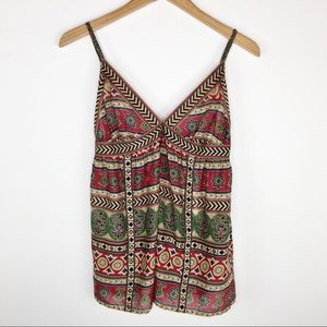 NWT TopShop tribal print Cotton studded cami top 8